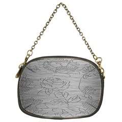 Embossed Rose Pattern Chain Purses (two Sides)