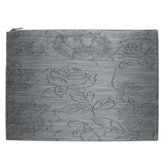 Embossed Rose Pattern Cosmetic Bag (xxl)  by BangZart