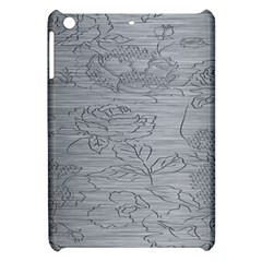 Embossed Rose Pattern Apple Ipad Mini Hardshell Case