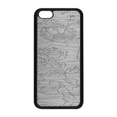 Embossed Rose Pattern Apple Iphone 5c Seamless Case (black) by BangZart