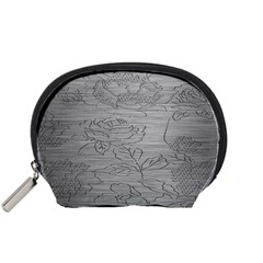 Embossed Rose Pattern Accessory Pouches (small)