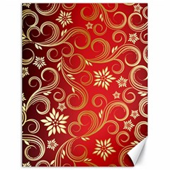 Golden Swirls Floral Pattern Canvas 18  X 24   by BangZart