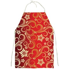Golden Swirls Floral Pattern Full Print Aprons