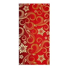 Golden Swirls Floral Pattern Shower Curtain 36  X 72  (stall)