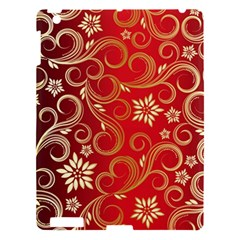 Golden Swirls Floral Pattern Apple Ipad 3/4 Hardshell Case by BangZart