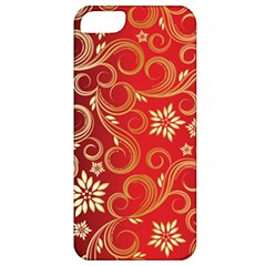 Golden Swirls Floral Pattern Apple Iphone 5 Classic Hardshell Case