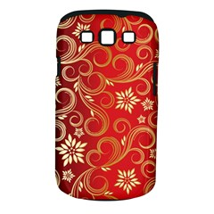 Golden Swirls Floral Pattern Samsung Galaxy S Iii Classic Hardshell Case (pc+silicone)