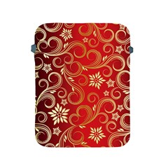Golden Swirls Floral Pattern Apple Ipad 2/3/4 Protective Soft Cases
