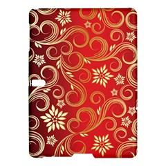 Golden Swirls Floral Pattern Samsung Galaxy Tab S (10 5 ) Hardshell Case
