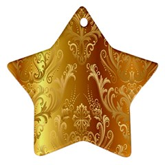 Golden Pattern Vintage Gradient Vector Ornament (star)