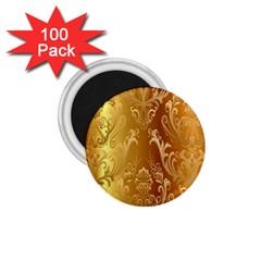 Golden Pattern Vintage Gradient Vector 1 75  Magnets (100 Pack)