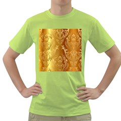Golden Pattern Vintage Gradient Vector Green T Shirt by BangZart