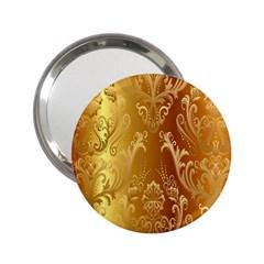 Golden Pattern Vintage Gradient Vector 2 25  Handbag Mirrors