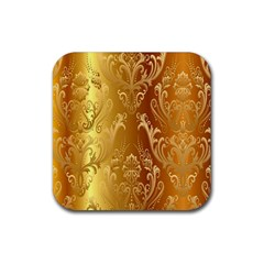 Golden Pattern Vintage Gradient Vector Rubber Coaster (square)