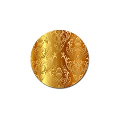 Golden Pattern Vintage Gradient Vector Golf Ball Marker