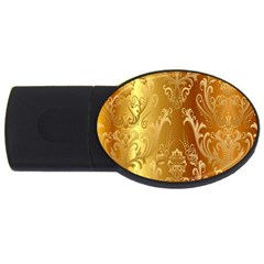 Golden Pattern Vintage Gradient Vector Usb Flash Drive Oval (2 Gb) by BangZart