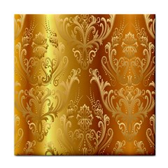 Golden Pattern Vintage Gradient Vector Face Towel