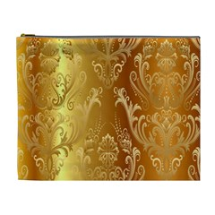 Golden Pattern Vintage Gradient Vector Cosmetic Bag (xl)