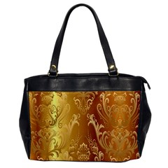 Golden Pattern Vintage Gradient Vector Office Handbags by BangZart