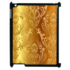 Golden Pattern Vintage Gradient Vector Apple Ipad 2 Case (black)
