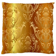 Golden Pattern Vintage Gradient Vector Large Cushion Case (two Sides) by BangZart