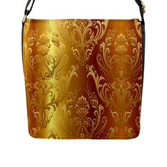 Golden Pattern Vintage Gradient Vector Flap Messenger Bag (l)