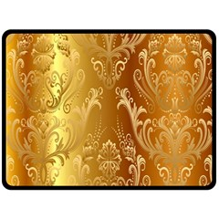 Golden Pattern Vintage Gradient Vector Double Sided Fleece Blanket (large)  by BangZart