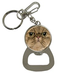 Cute Persian Catface In Closeup Button Necklaces