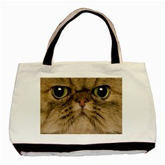 Cute Persian Catface In Closeup Basic Tote Bag