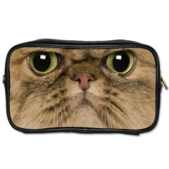 Cute Persian Catface In Closeup Toiletries Bags