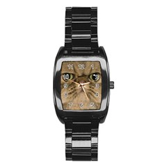 Cute Persian Catface In Closeup Stainless Steel Barrel Watch