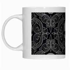 Dark Horror Skulls Pattern White Mugs