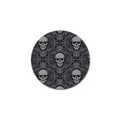 Dark Horror Skulls Pattern Golf Ball Marker (4 Pack)