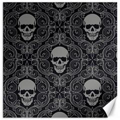 Dark Horror Skulls Pattern Canvas 20  X 20