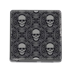 Dark Horror Skulls Pattern Memory Card Reader (square) by BangZart