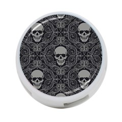 Dark Horror Skulls Pattern 4 Port Usb Hub (one Side)