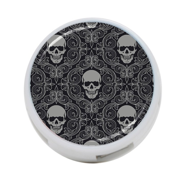 Dark Horror Skulls Pattern 4-Port USB Hub (One Side)