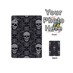 Dark Horror Skulls Pattern Playing Cards 54 (mini)  by BangZart