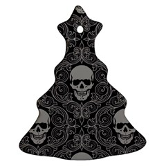 Dark Horror Skulls Pattern Christmas Tree Ornament (two Sides) by BangZart