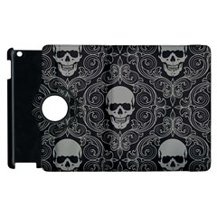 Dark Horror Skulls Pattern Apple Ipad 2 Flip 360 Case