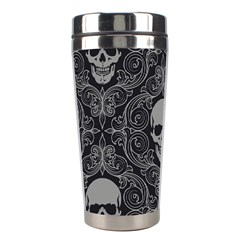 Dark Horror Skulls Pattern Stainless Steel Travel Tumblers by BangZart