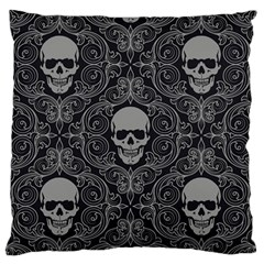 Dark Horror Skulls Pattern Large Flano Cushion Case (one Side)