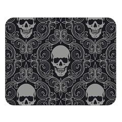 Dark Horror Skulls Pattern Double Sided Flano Blanket (large)