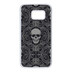 Dark Horror Skulls Pattern Samsung Galaxy S7 White Seamless Case