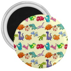 Group Of Funny Dinosaurs Graphic 3  Magnets