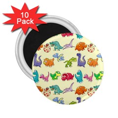 Group Of Funny Dinosaurs Graphic 2 25  Magnets (10 Pack)  by BangZart