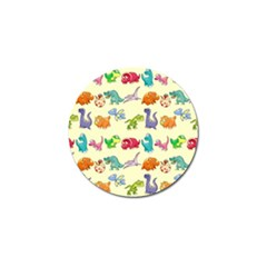 Group Of Funny Dinosaurs Graphic Golf Ball Marker by BangZart
