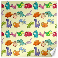 Group Of Funny Dinosaurs Graphic Canvas 12  X 12