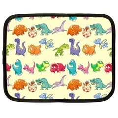 Group Of Funny Dinosaurs Graphic Netbook Case (large) by BangZart