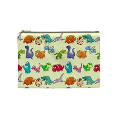 Group Of Funny Dinosaurs Graphic Cosmetic Bag (medium)